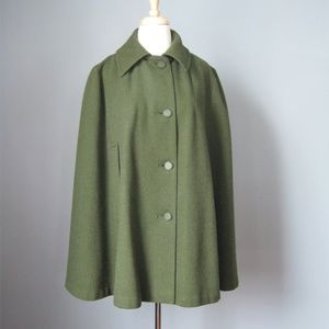 Wool Cape / Vtg 50s / Made in Wales UK